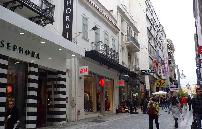 Rua Ermou em Atenas
