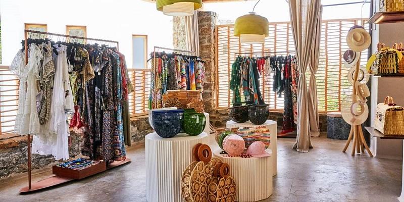 Loja de roupas em Mykonos