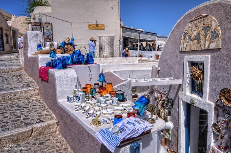 Compras em Santorini