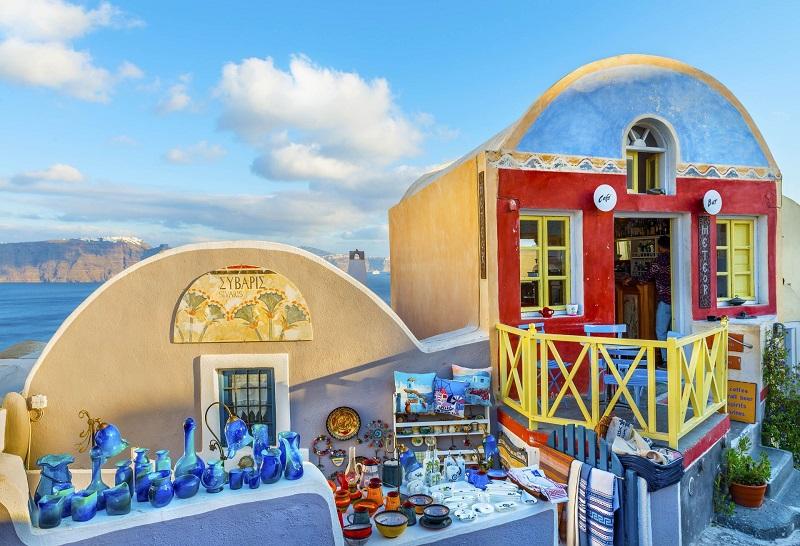 Compras em Óia, Santorini