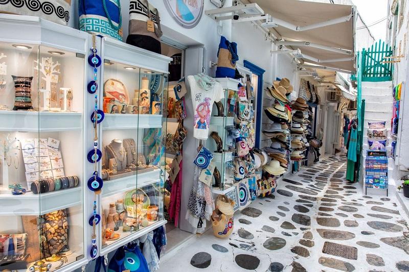 Lojas de rua em Mykonos