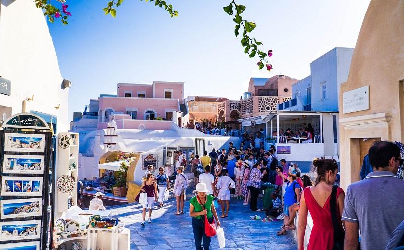 Fuso horário de Santorini e Mykonos X Brasil