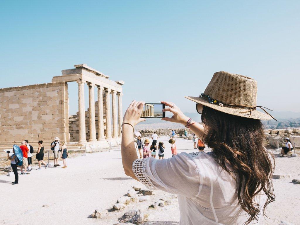 Uso do celular em Atenas