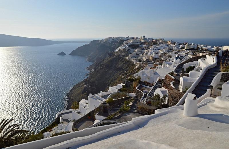 Encosta da Caldera - Santorini
